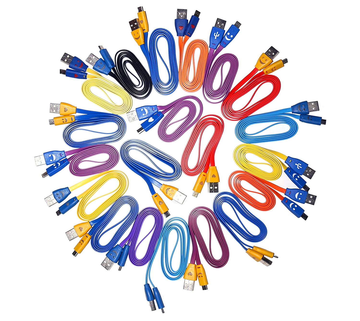 (20 Pack) Micro USB 2.0 CHARGING Cable - 1M (COLORS MAY VARY)