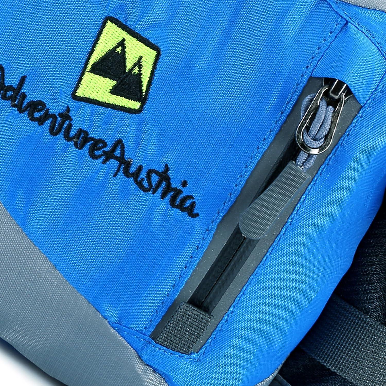AdventureAustria Ri/ñonera Deportiva S/úper Ligera Bolso Cintura Impermeable con Soporte de Botella Adecuado para Hombres Mujeres Ni/ños Fitness Ciclismo Jogging Gimnasio Ajustable y Reflectante.