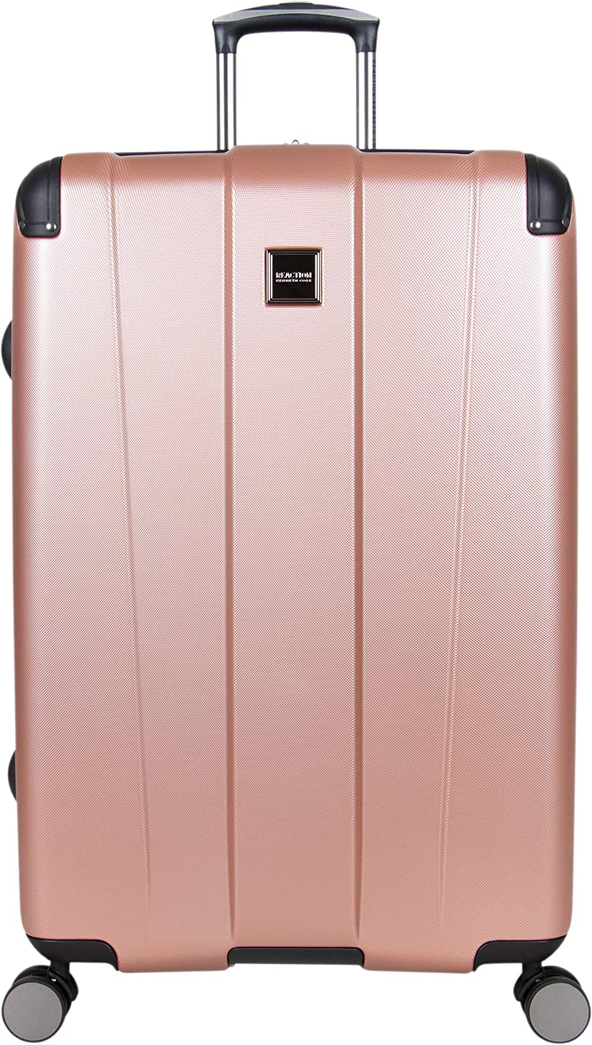 Kenneth Cole Reaction Continuum 28 Lightweight Hardside Expandable 8-Wheel Spinner Checked-Size Travel Luggage, Rose Gold