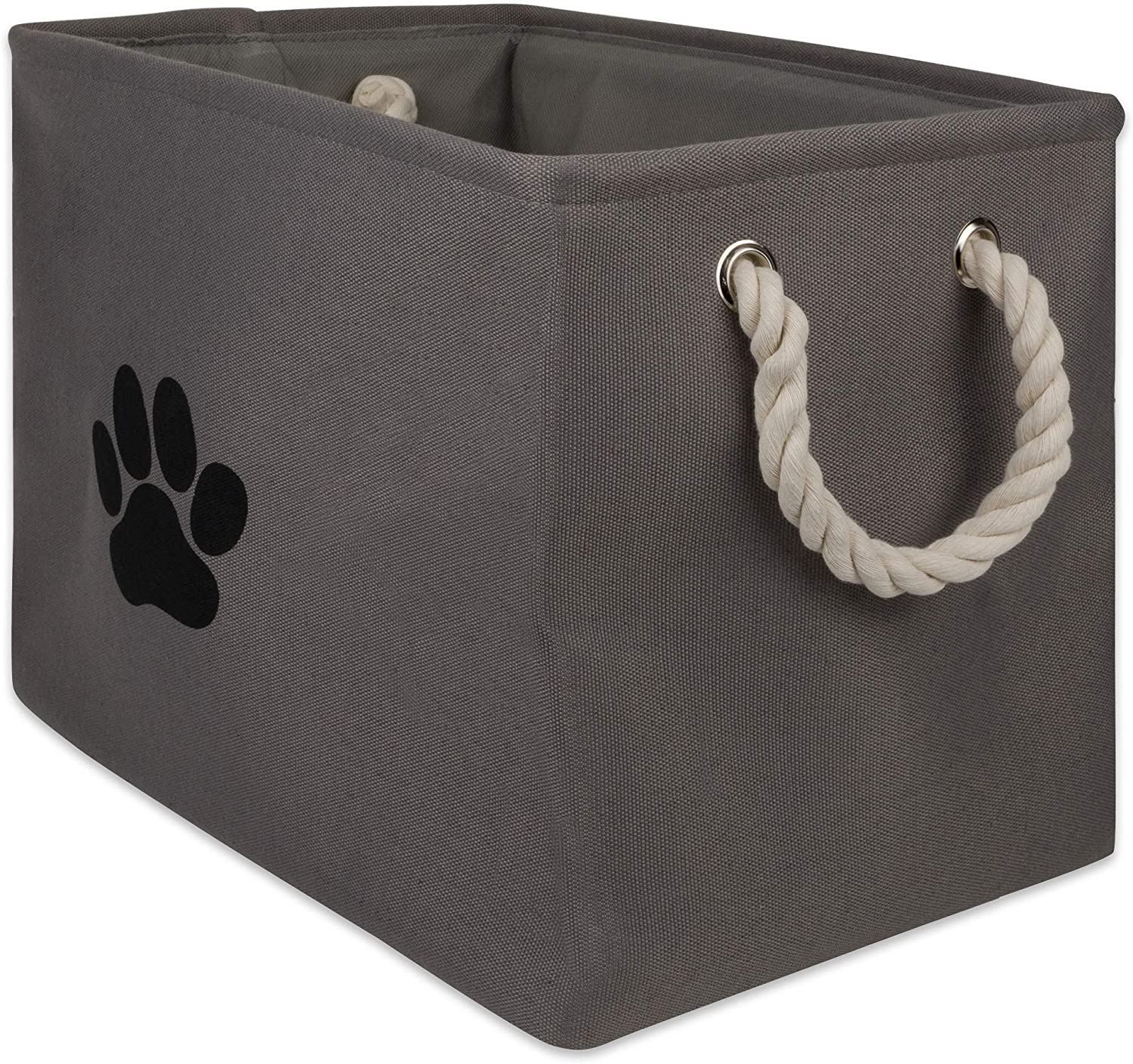 Bone Dry Collapsible Bin, Small Rectangle, Gray