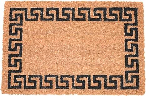 Cuadrado Felpudo de Coco Natural 60x40 felpudos Entrada casa Felpudo Exterior Alfombra Entrada casa Interior Alfombra Limpia Zapatos