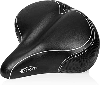 Oversized Comfort Bike Seat Universal Fit for Exercise Bike and Outdoor Bikes