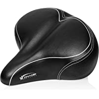 Oversized Comfort Bike Seat – Comfortable Cushion Replacement Bicycle Saddle – Universal Fit for Outdoor Bike and Beach…