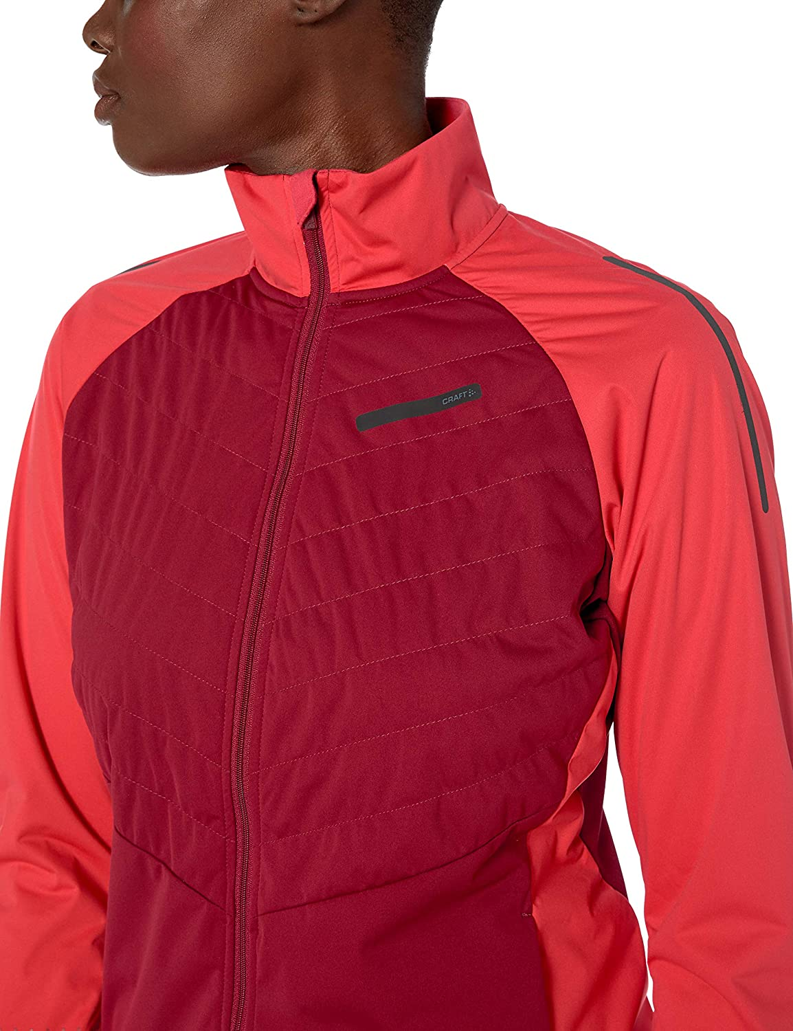 Craft Womens Storm Balance Quilted Reflective Nordic Snow Skiing Jacket