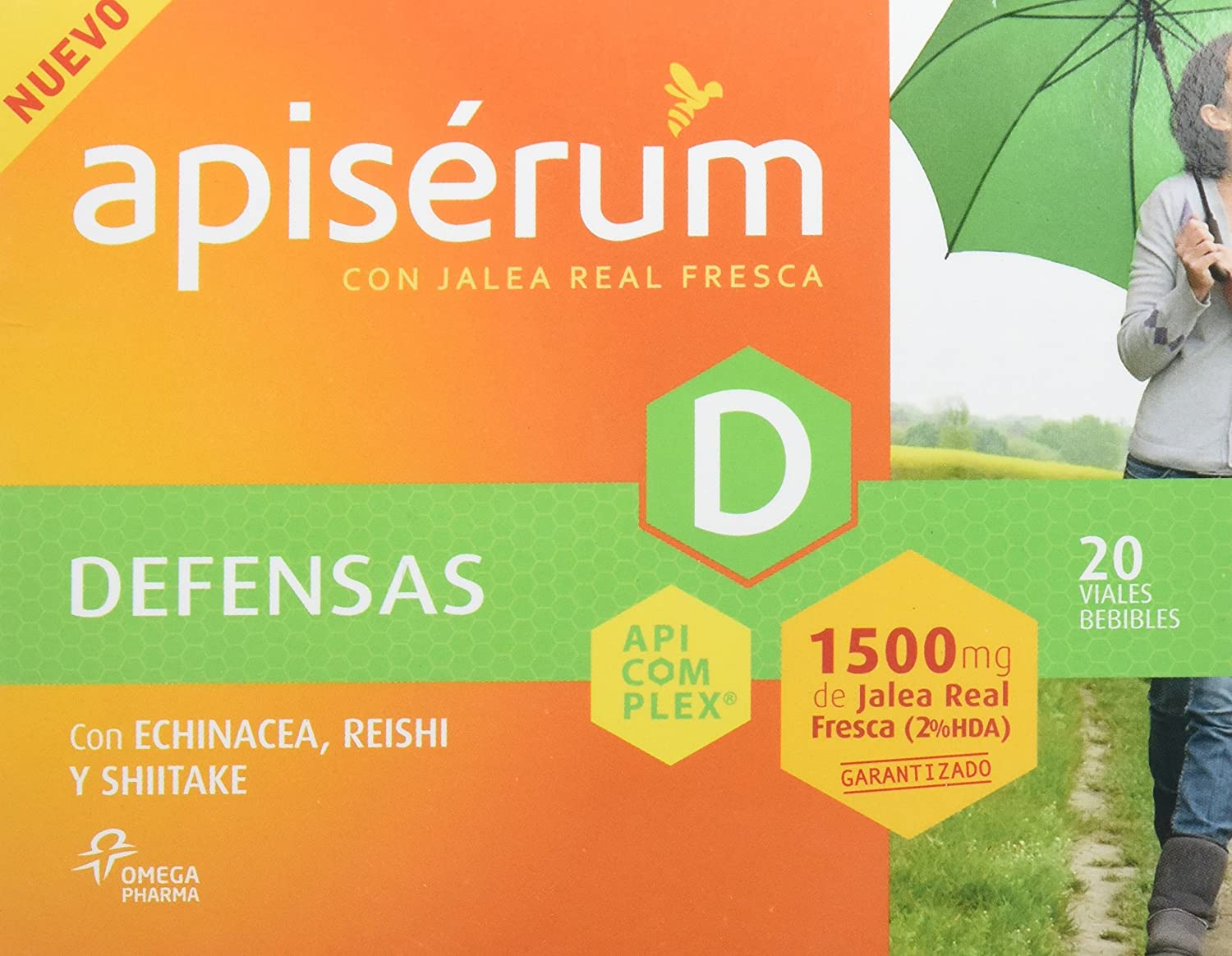 Apiserum Defensas 1500 mg 20 viales