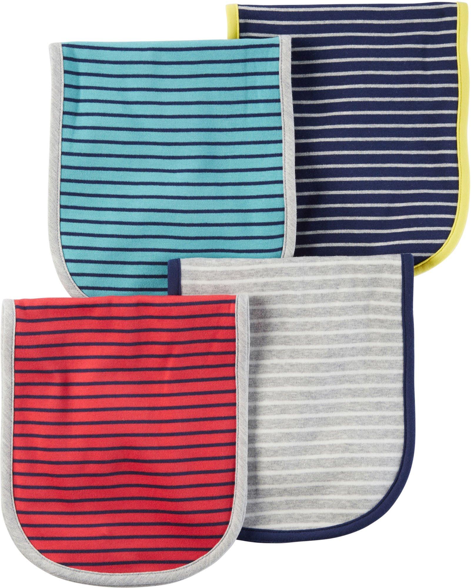 Carter's Baby Boys' 4-Pack Striped Burp Cloths