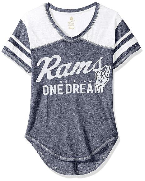 Amazon.com   NFL Juniors Junior Girls Vintage Short Sleeve Football ... 7b7b382df