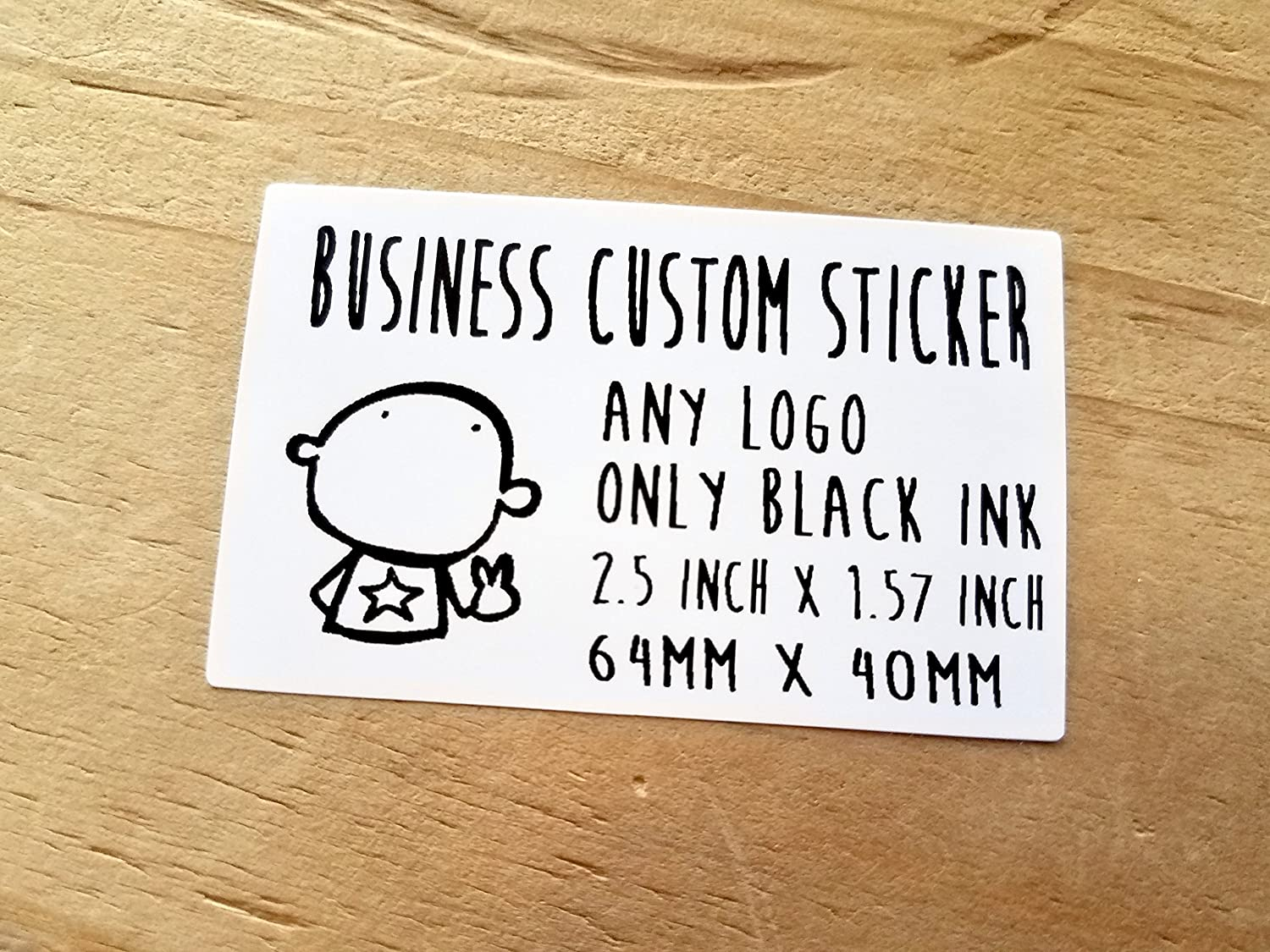 Amazon com 20 xx large rectangle matte white transparent business labels waterproof school labels daycare label custom business logo product sticker