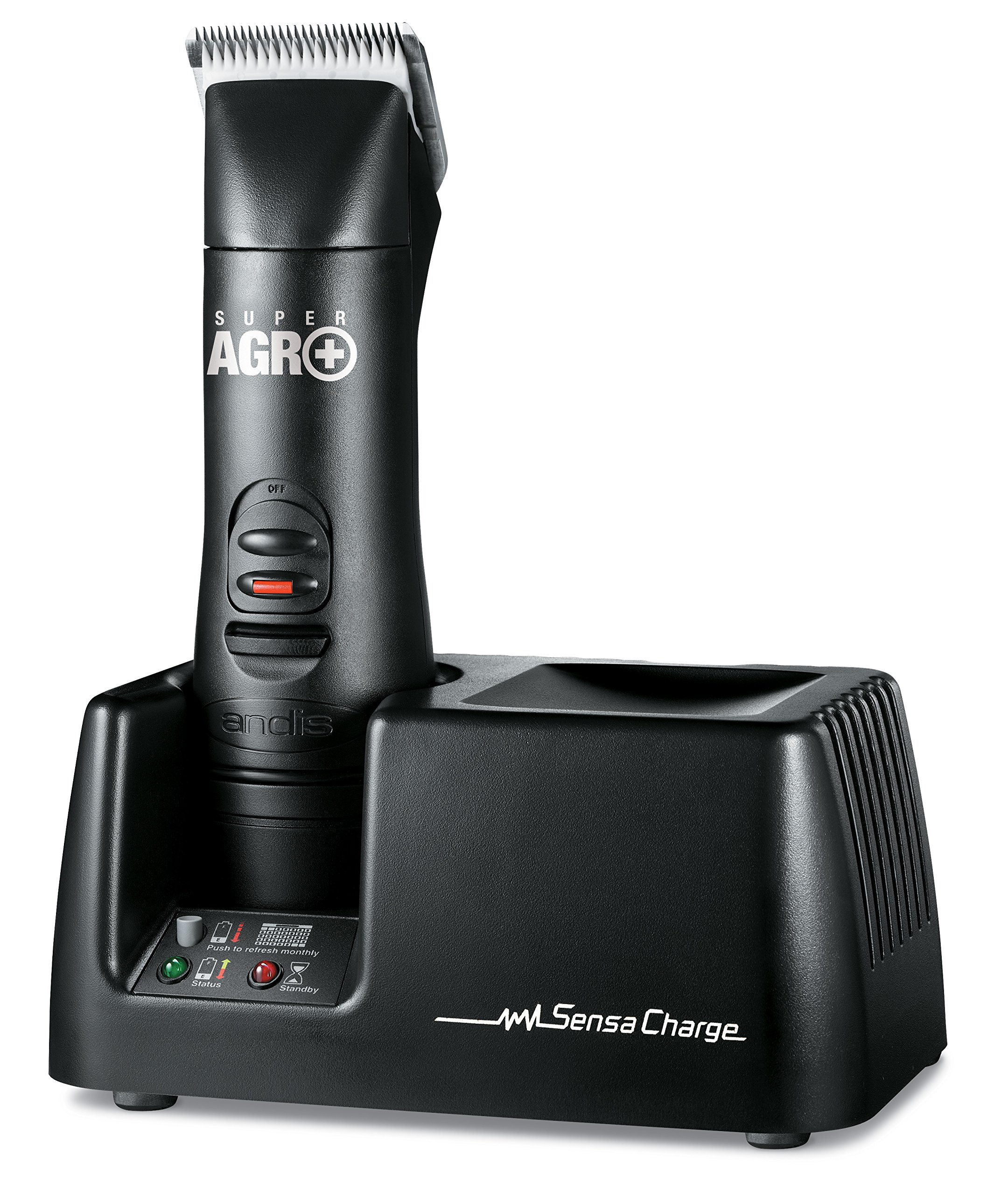 Andis Super AGR+ Rechargeable Detachable Blade Clipper, Professional Animal Grooming, AGR+  (64800)
