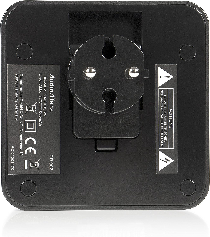 Audioaffairs Steckdosenradio Plug In Küchenradio Oder Als Bluetooth Lautsprecher Integrierter Akku Und Aux In Anschluss Freisprecheinrichtung Und Ukw Pll Tuner Heimkino Tv Video