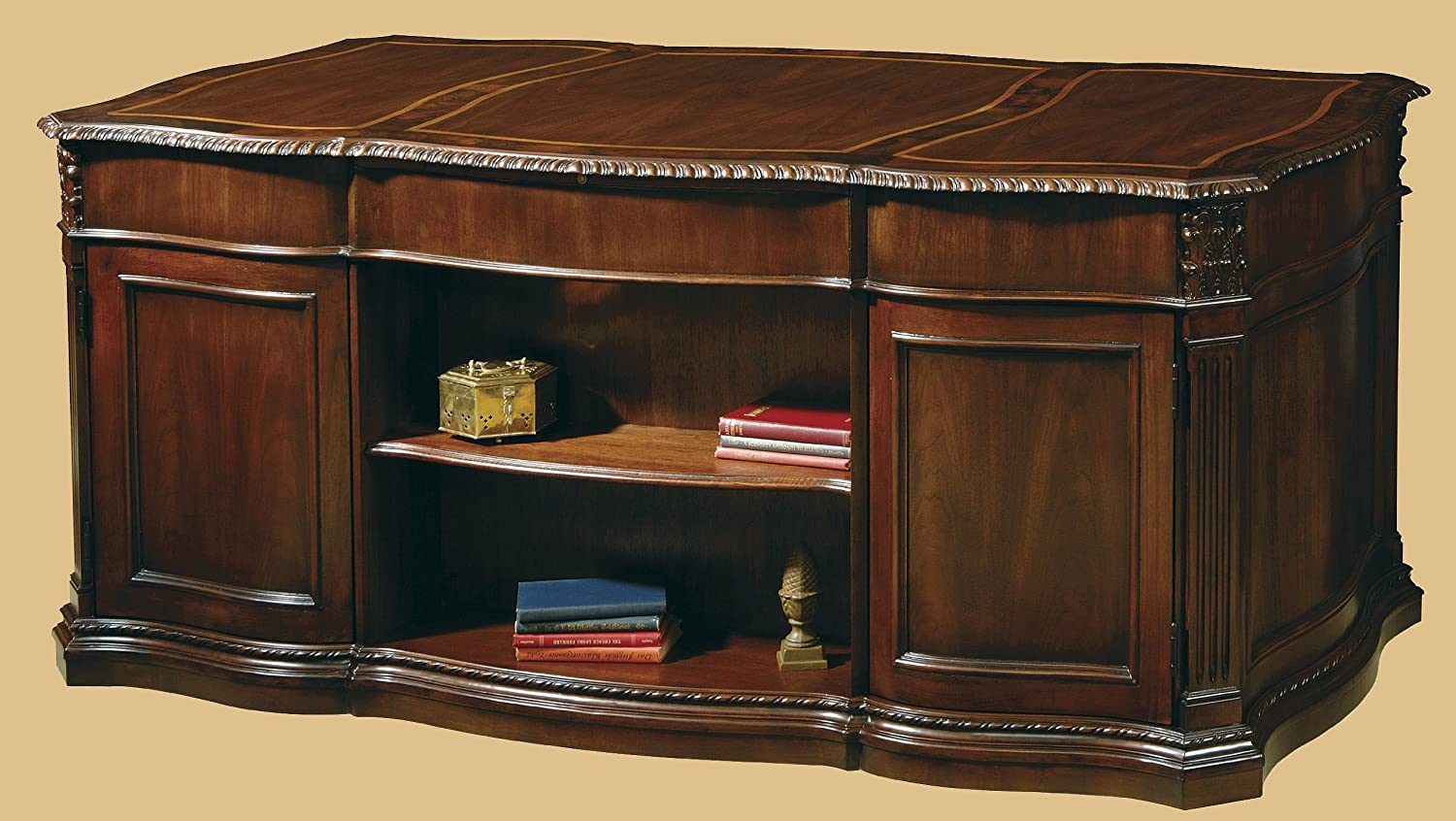 blonde used w hekman furniture product desk category leather end tooled executive categories top high