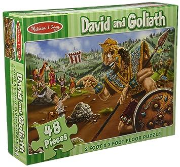 Amazoncom Melissa Doug David And Goliath Jumbo Jigsaw Floor - Melissa and doug floor puzzle