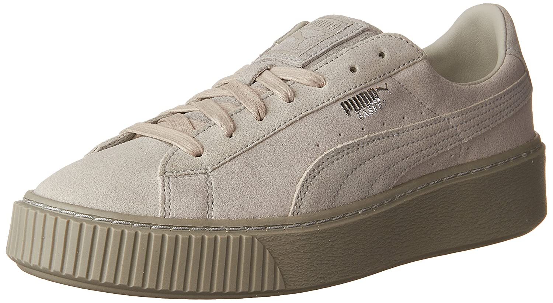 PUMA Women's Basket Platform Reset WN's Fashion Sneaker B01J5NUSOK 9.5 M US Gray Violet-gray Violet