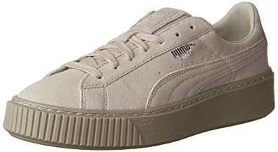 Puma Damen Korb Plattform Reset WN S Fashion Sneaker Schwarz Schwarz Schwarz Grau - Gray Violet-Gray Violet...
