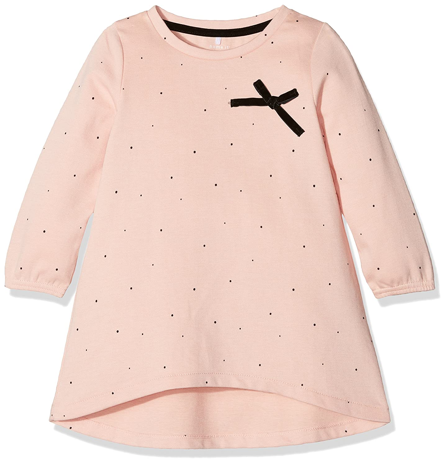 NAME IT Baby-Mädchen Langarmshirt Nitfimola LS Tunic F Mini Rosa (Evening Sand) 104 13146233