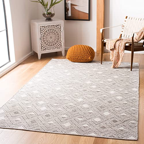 Safavieh Montauk Collection MTK614J Charcoal Grey and Ivory Area Rug 8 x 10