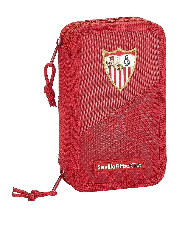 125x40x195/mm Estuche de Sevilla FC Oficial Escolar Incluye 28 /Útiles