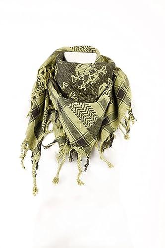Pali–Toalla con einge webtem Calavera de costura PLO–En 100x 100cm Pali los Palestinos Arafat Toalla...