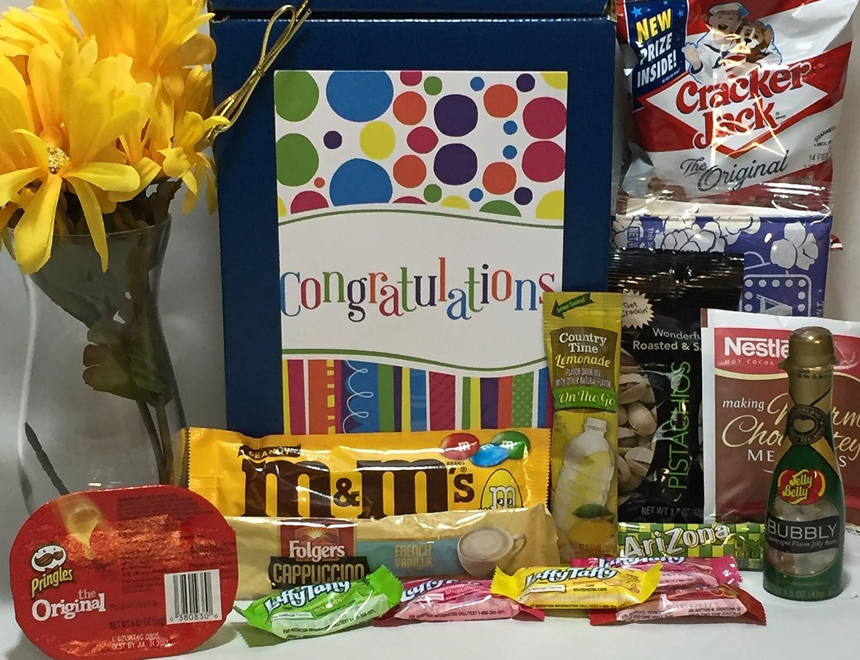 Congratulations Gift Box Basket - New Baby / Retirement ...