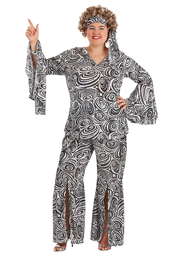 70s Costumes: Disco Costumes, Hippie Outfits Plus Size Womens Foxy Lady Disco Dance Groovy Costume $49.99 AT vintagedancer.com
