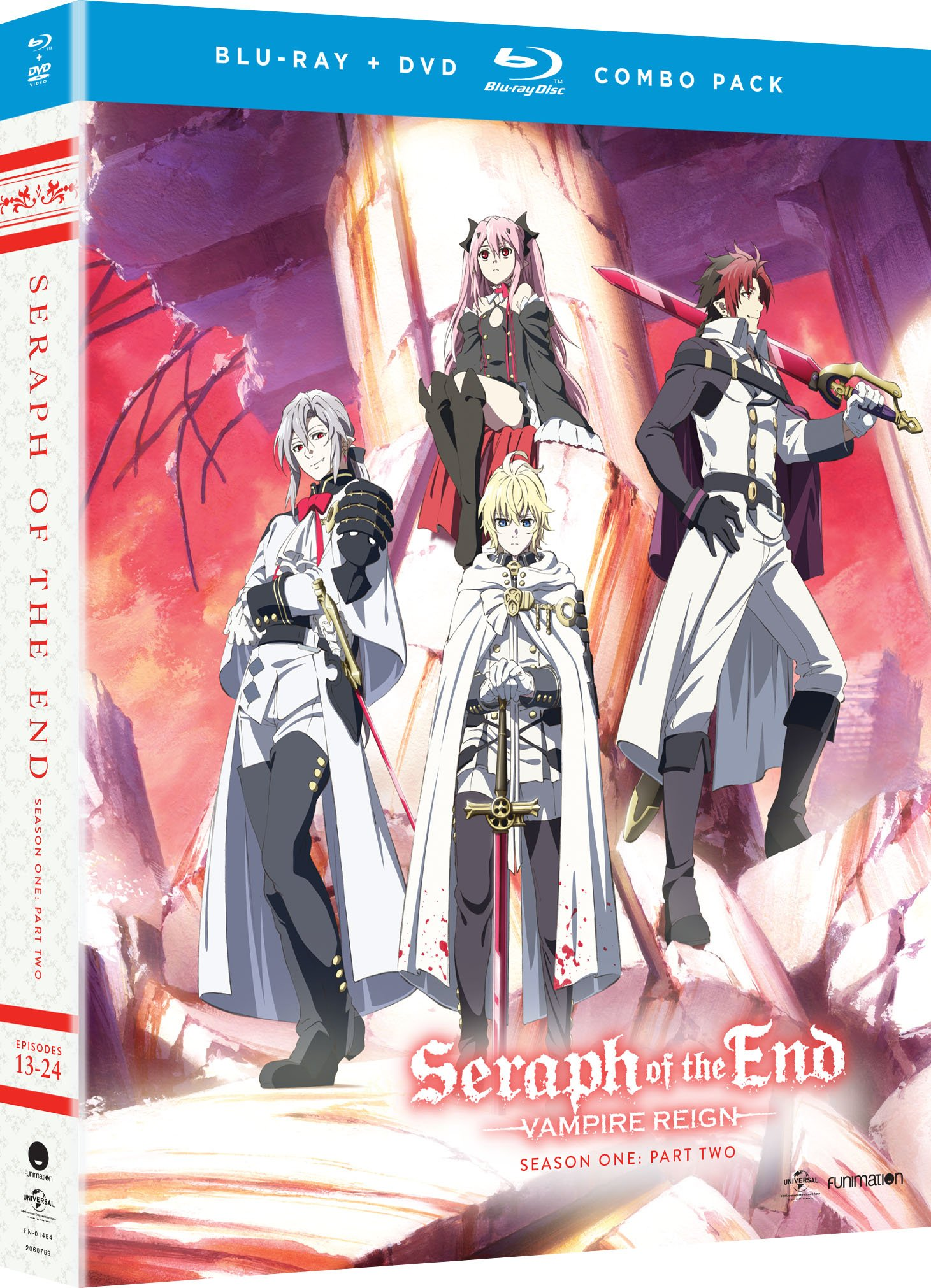 Blu-ray : Seraph Of The End: Vampire Reign - Season One Part Two (With DVD, Boxed Set, 4 Disc)