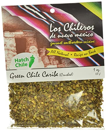 Los Chileros New Mexico Crushed Chile Caribe, Green, 1 Ounce