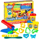 KIDDY DOUGH Modeling Dough Set - Dough Blast Starter Set with Tools Includes 3 Cans of Dough w/Built-In Stamps, Cutter Stencils, Extruders & More for Endless Design Possibilities