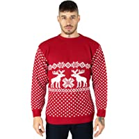 Jersey de punto unisex de renos de Navidad para hombre