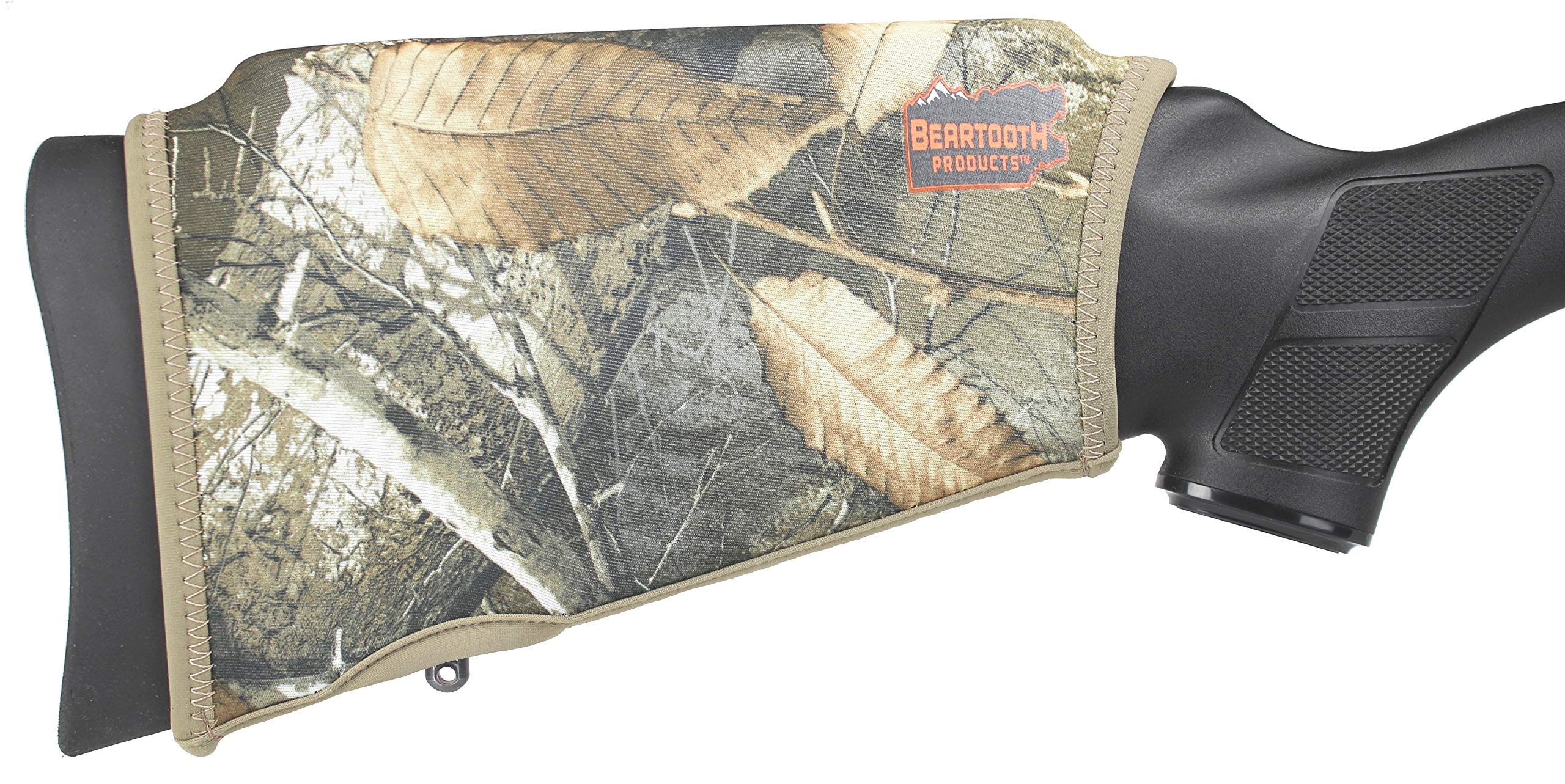 Beartooth Comb Raising Kit 2.0 - Premium Neoprene Gun Stock Cover + (5) Hi-Density Foam Inserts - NO Loops Model (Realtree Edge) by Beartooth Products