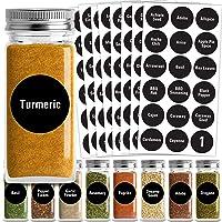 Talented Kitchen Round Spice Labels - 144 Preprinted Chalkboard Spice Labels Sticker. Chalk, Water Resistant, Write-On…