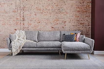Amazon.com: Edloe Finch Modern Sectional Sofa Right Facing Chaise ...