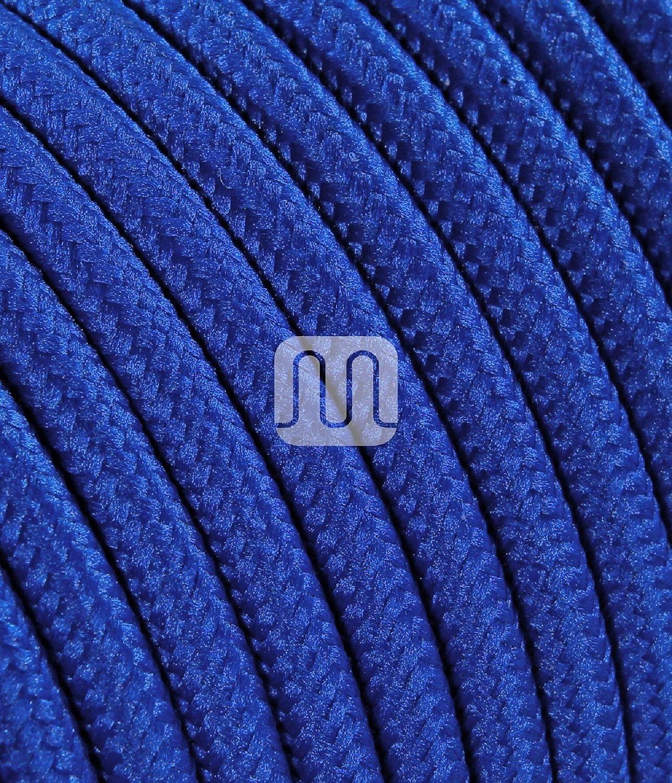 Blu 3 m Merlotti 20308 Cavo Elettrico Rotondo H03VV-F 2x0.75