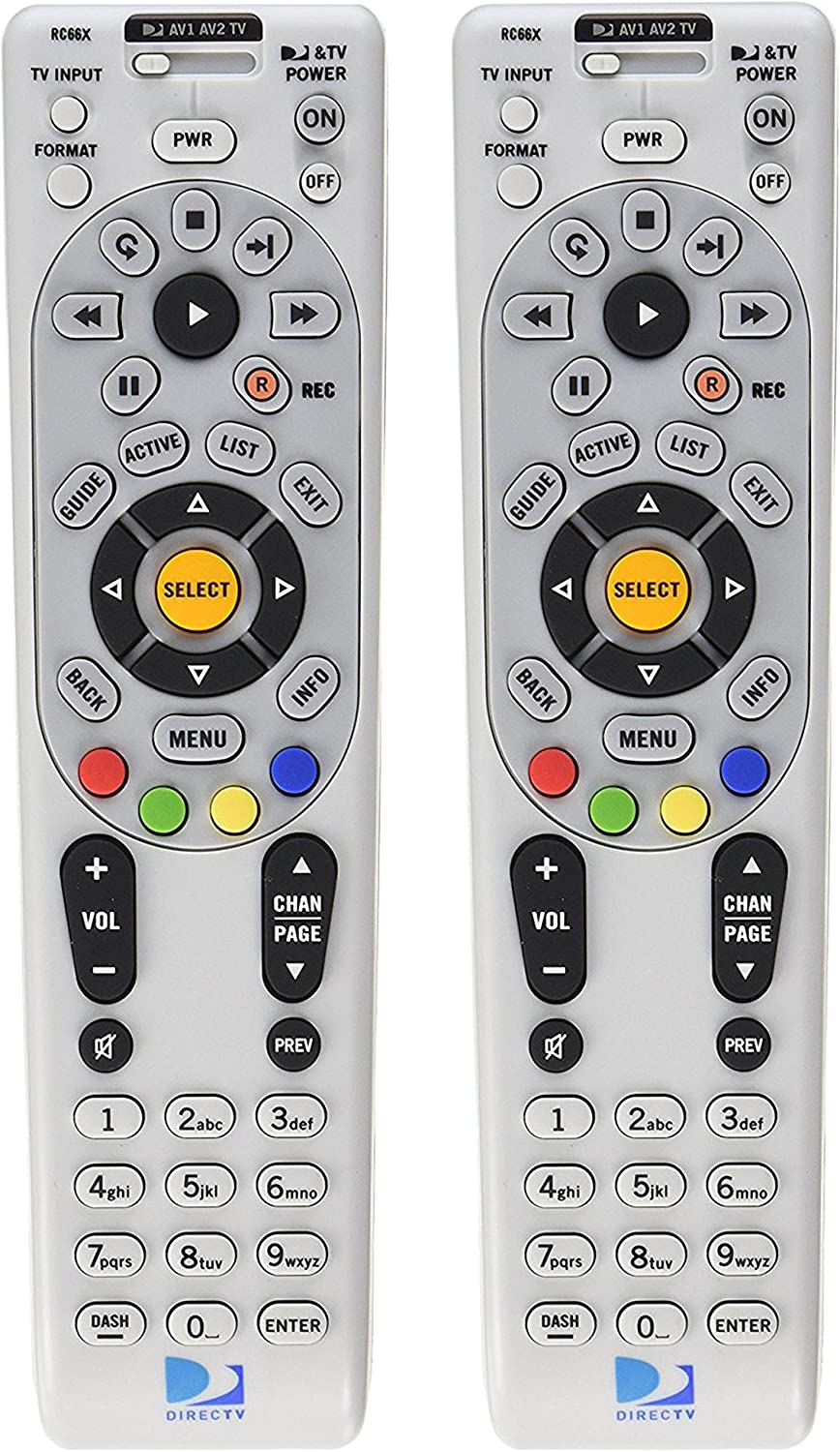 Lot Of 2 Brand New DIRECTV RC66X Universal Remote Control Replaces RC65X