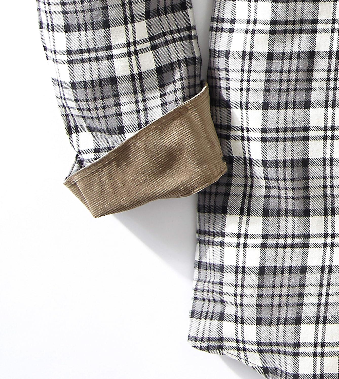 Mens Flannel Plaid Shirt with Full Reach Gusset Venado Flannel Shirt for Men