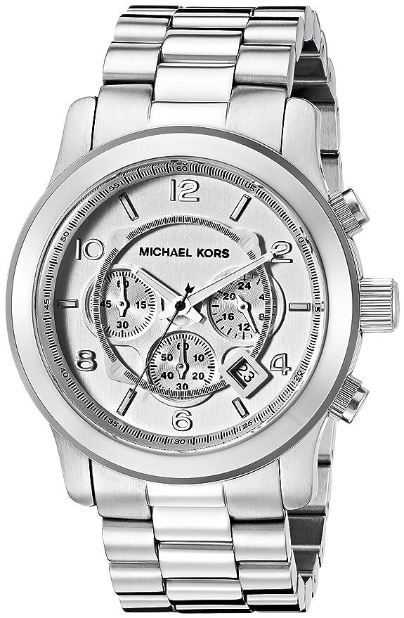 8dcecbd515cab Amazon.com  Michael Kors Men s Runway Silver-Tone Watch MK8086  Michael Kors   Watches
