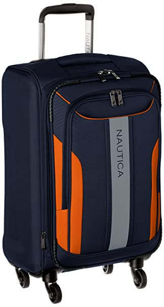Amazon.com | Nautica Carry-On Expandable Spinner Luggage, Navy/Orange | Carry-Ons