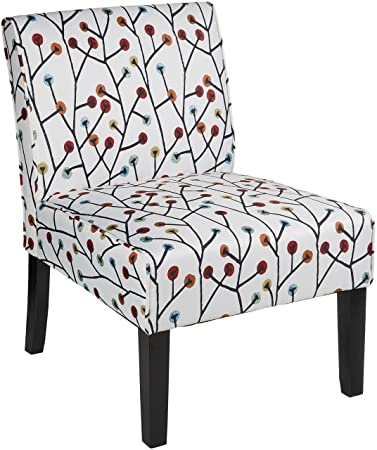 Amozon Accent Chairs.Red Hook Martina Contemporary Upholstered Armless Accent Chair Floral