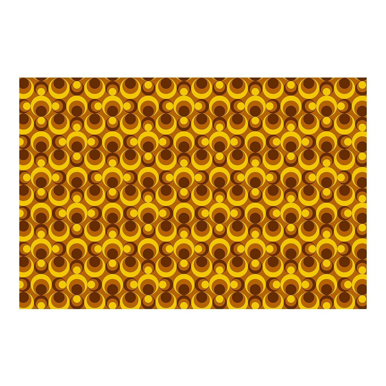Amazon.com: Non-woven Wallpaper Retro Wallpaper - 70s Circle ...
