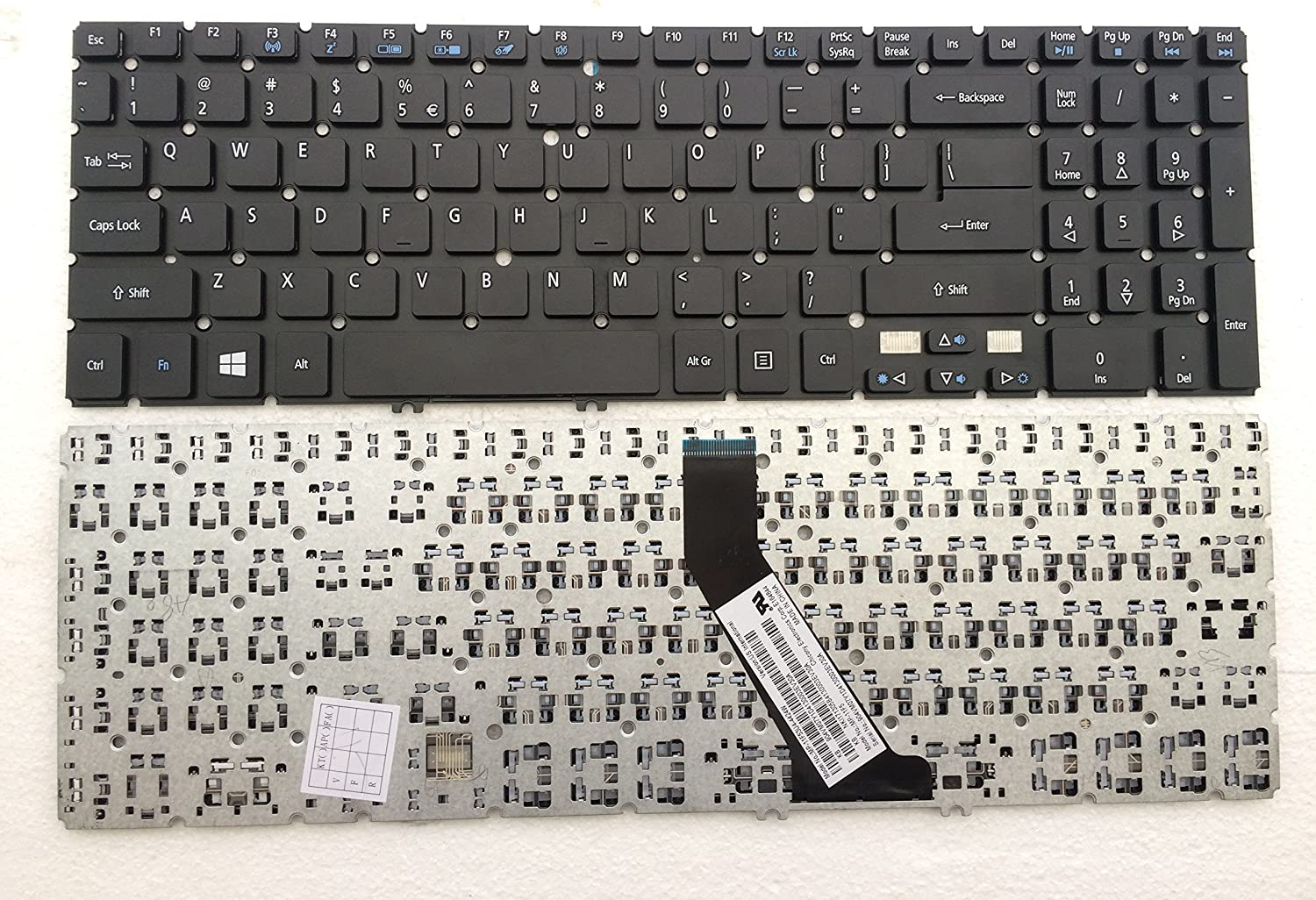keyboard go go go Replacement Keyboard for Acer Aspire V5-531 V5-551 V5-571 M5-581G MP-11F5 US MP-11F53U4-4424W PK130O22A00 MP-11F53U4-528 V5-571