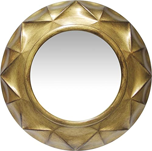 Infinity Instruments Vigil 20 Inch Antique Gold Decorative Wall Mirror