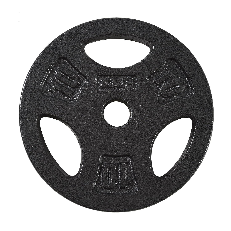CAP Barbell Standard Grip Plate, Black, 10 lb RWPB-010