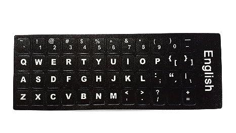 Ledeli - Pegatinas de teclado para PC, ordenador portátil, PC, portátil QWERTY US English Layout: Amazon.es: Informática