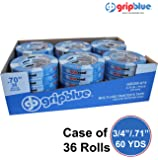 """GripBlue™ 3/4"""" (.71""""/18mm) X 60 YDs Multi-Use Blue Painters Tape 