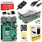 CanaKit Raspberry Pi 4 4GB Starter Kit with Clear Case (4GB RAM)