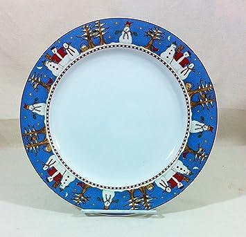 Amazon.com | Sakura Snowman Dinner Plate Debbie Mumm: Dinner Plates