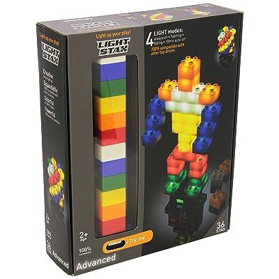 Desconocido Light STAX - Pack de 36 Bloques de construcción con luz: Juguetes y juegos