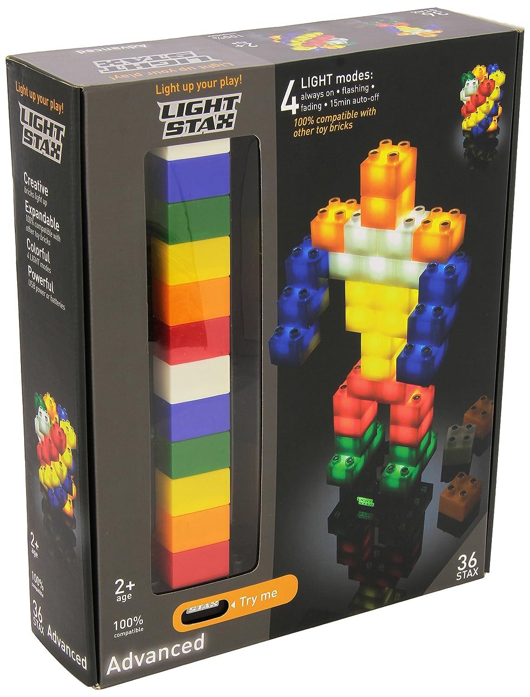 Light Stax Set da 36 pezzi elementi costitutivi, Multicolore M-05001 BLOCCHI COSTRUZIONI LED-Leuchtbausteine