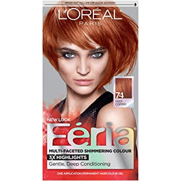 Amazon loral paris feria permanent hair color 74 copper loral paris feria permanent hair color 74 copper shimmer deep copper solutioingenieria Choice Image