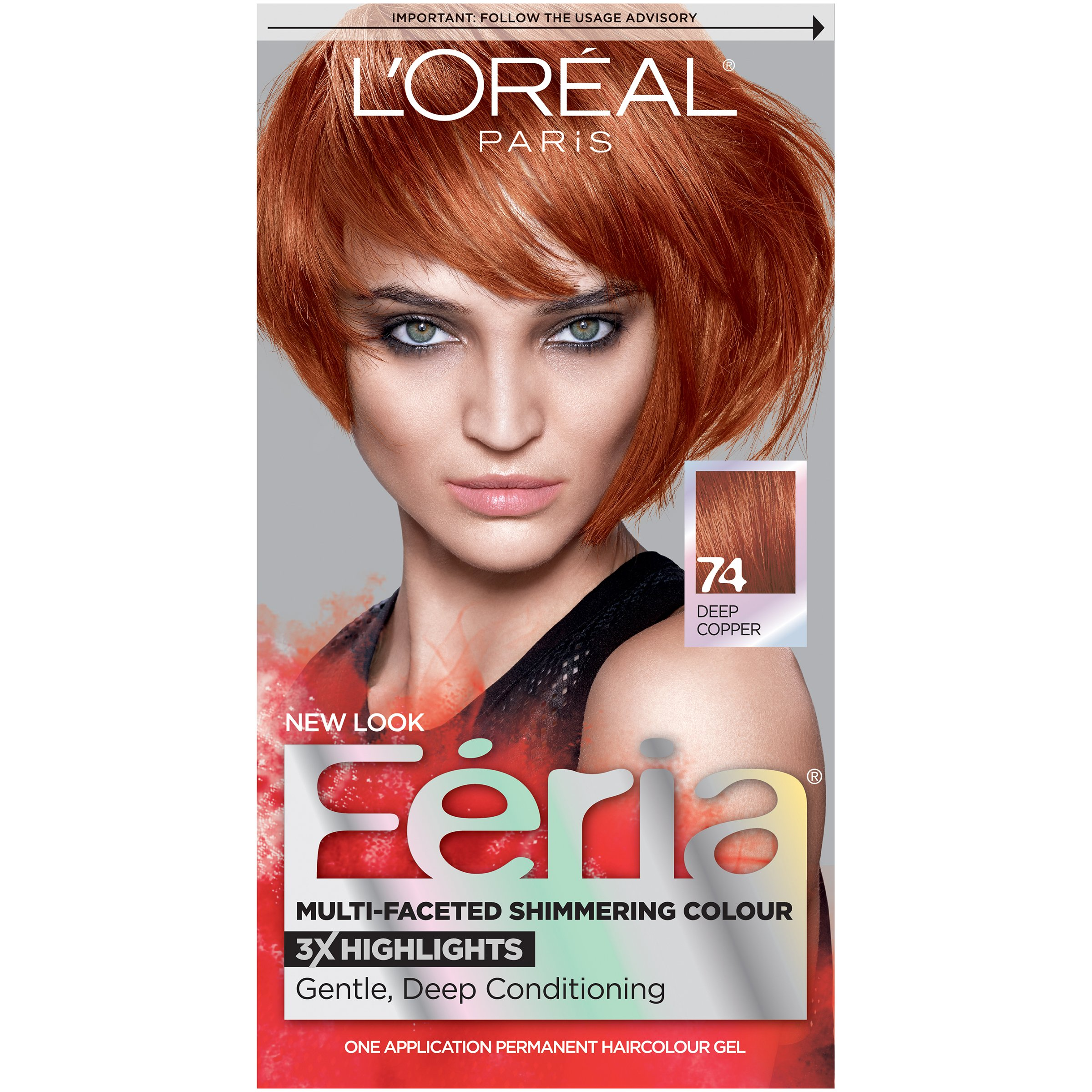 Amazon.com : LOréal Paris Couleur Experte Hair Color + Hair Highlights, Light Golden Copper
