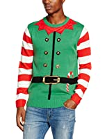 The Christmas Workshop Men's Elf Suit Long Sleeve 3D Jumper
